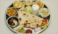 Indian Vegetarian Thali, Rajdhani Vegetarian Dishes