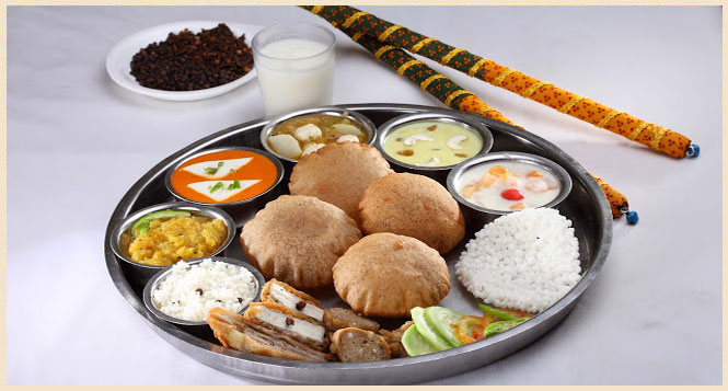 Traditional Gujarati Thali in Delhi