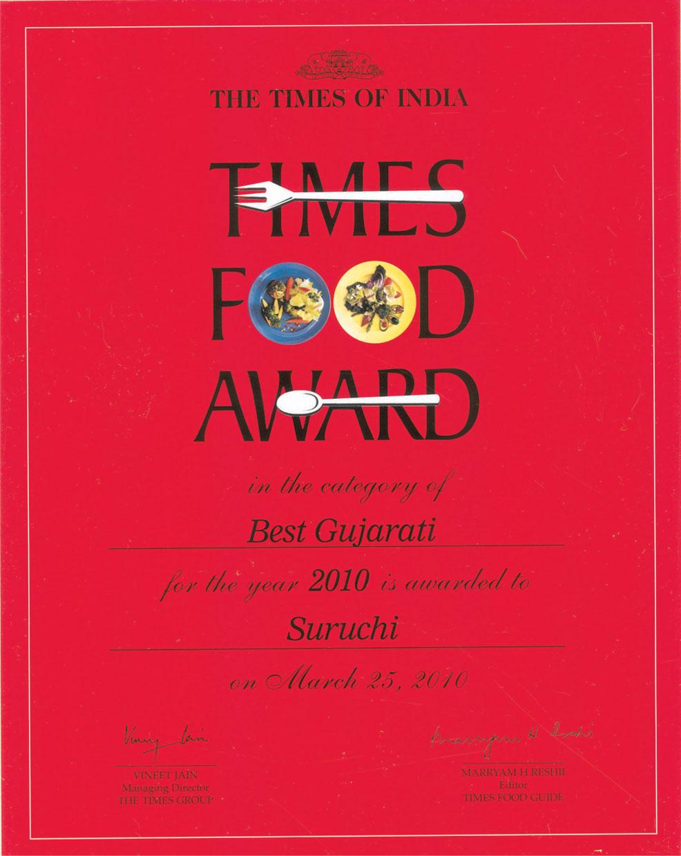 Suruchi restaurants awards for Cuisine 2017 restaurant awards